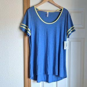 NWT Lularoe classic ringer style T Shirt XL